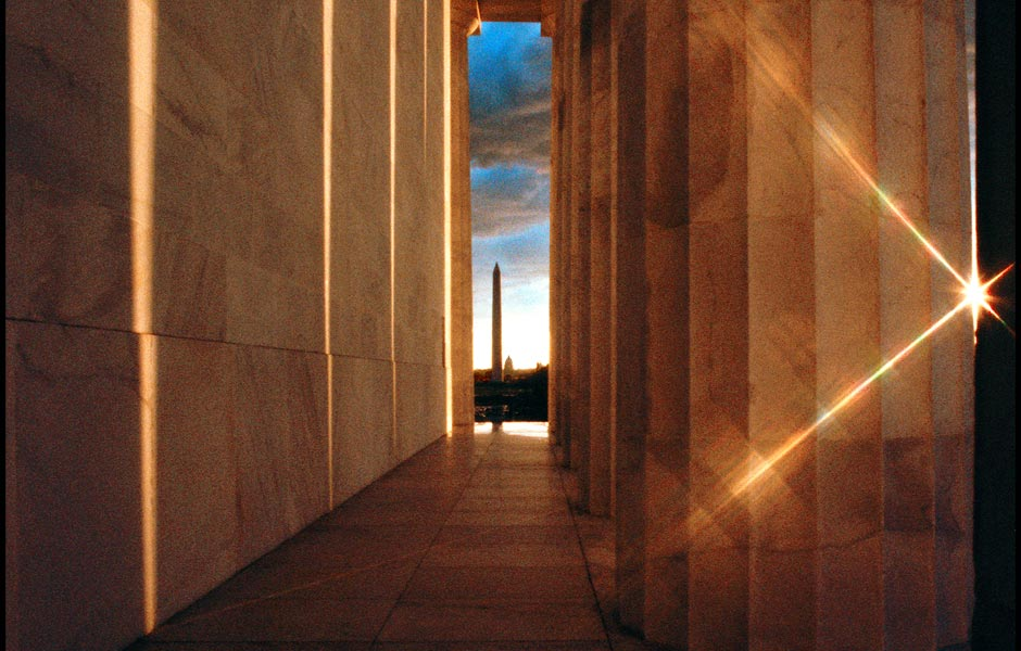 Washington Mounument through Lincoln Memoria